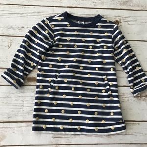OLD NAVY Blue white striped Sweater Dress